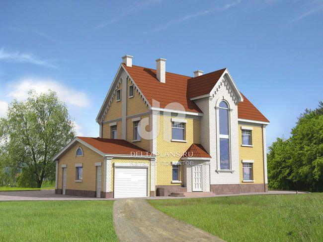Проект пенобетонного дома M-289-1P