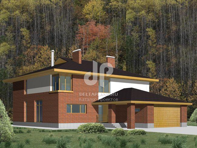 Проект кирпичного дома M-312-1K