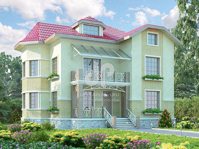 Проект кирпичного дома M-324-1K