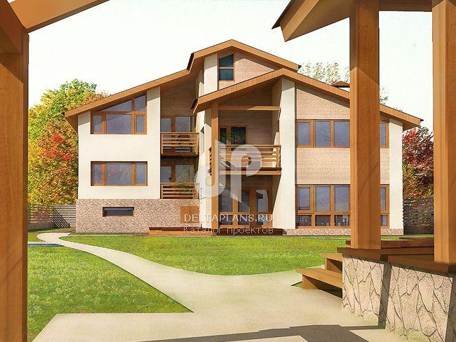 Проект кирпичного дома M-375-1K
