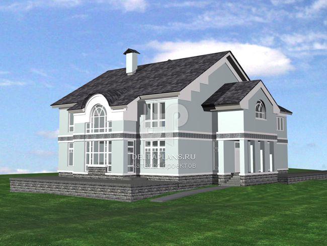 Проект пенобетонного дома M-412-1P