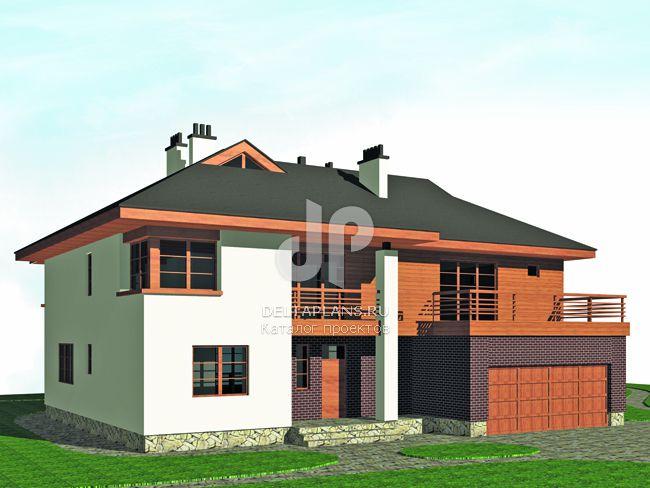 Проект кирпичного дома M-493-1K