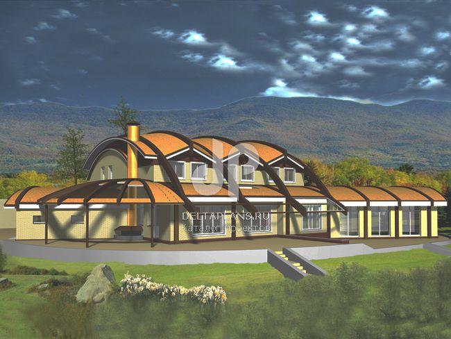 Проект кирпичного дома M-539-1K