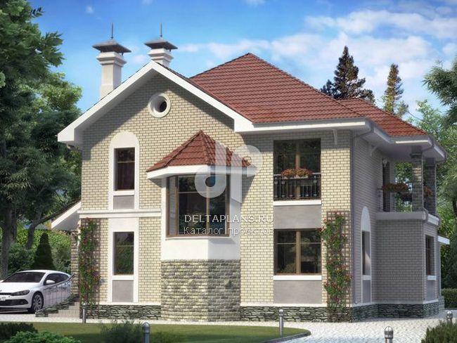 Проект пенобетонного дома p00542.