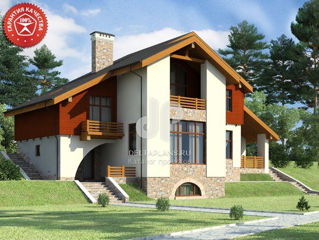 Проект кирпичного дома O-308-1K