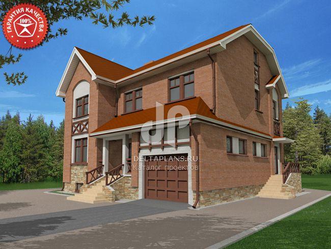 Проект кирпичного дома O-328-1K