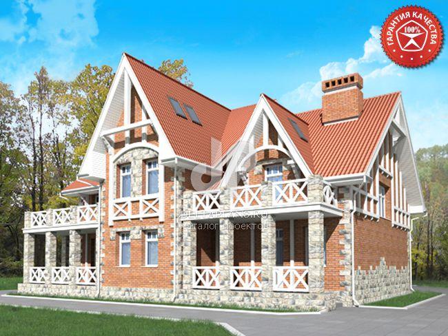 Проект кирпичного дома O-349-1K