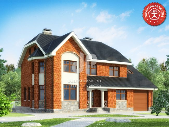 Проект кирпичного дома O-358-1K