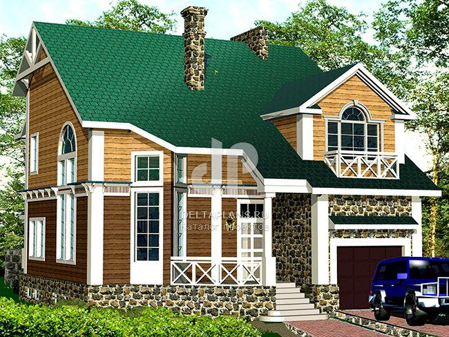 Проект деревянного дома R-280-1D
