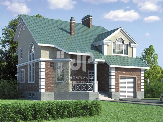 Проект кирпичного дома R-280-1K