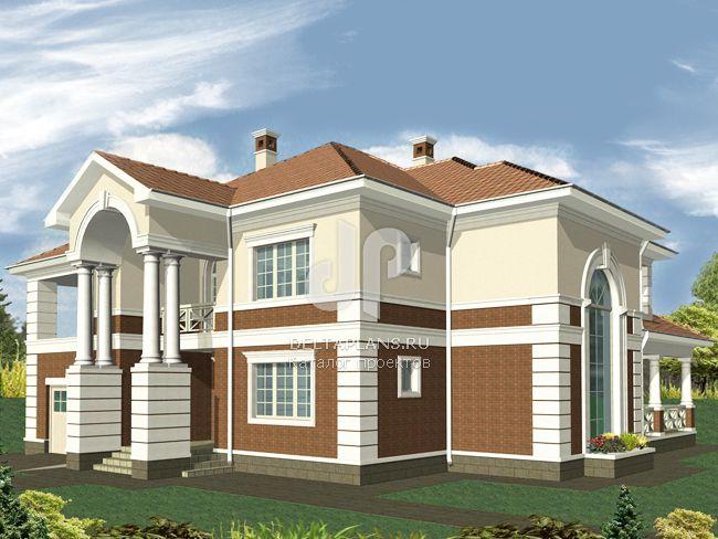 Проект кирпичного дома R-300-1K