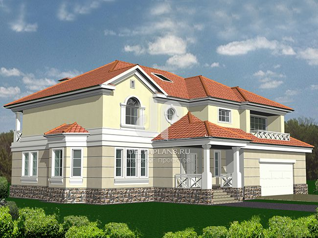 Проект кирпичного дома R-355-1K