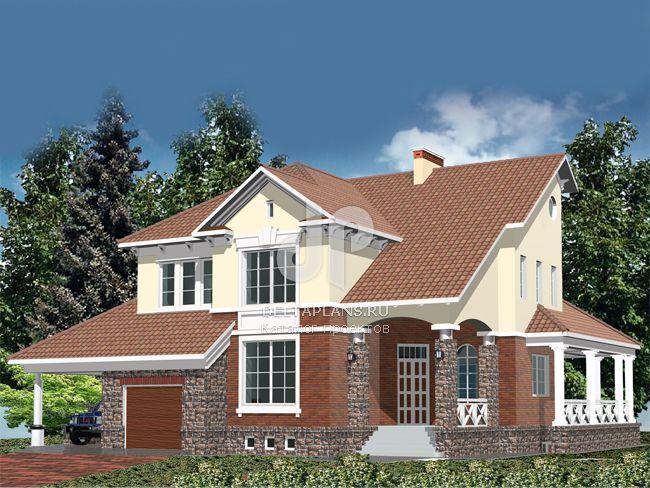 Проект кирпичного дома R-361-1K