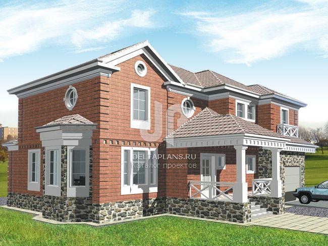 Проект кирпичного дома R-368-1K