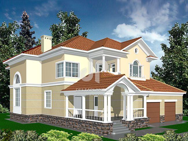 Проект кирпичного дома R-398-1K