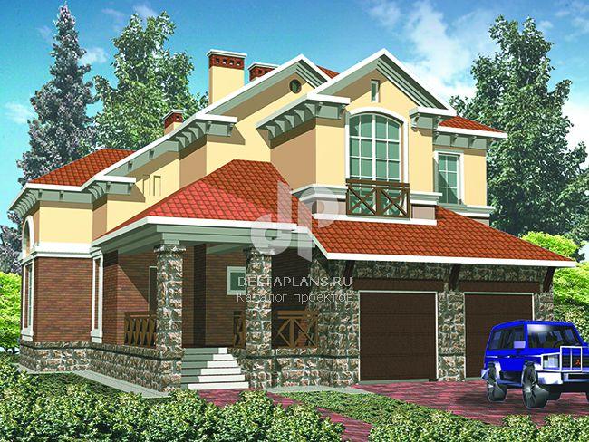 Проект кирпичного дома R-410-1K