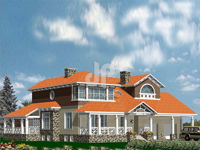 Проект кирпичного дома R-443-1K