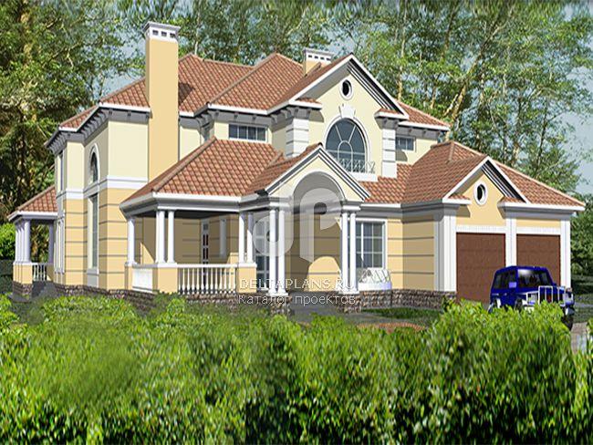 Проект кирпичного дома R-446-1K