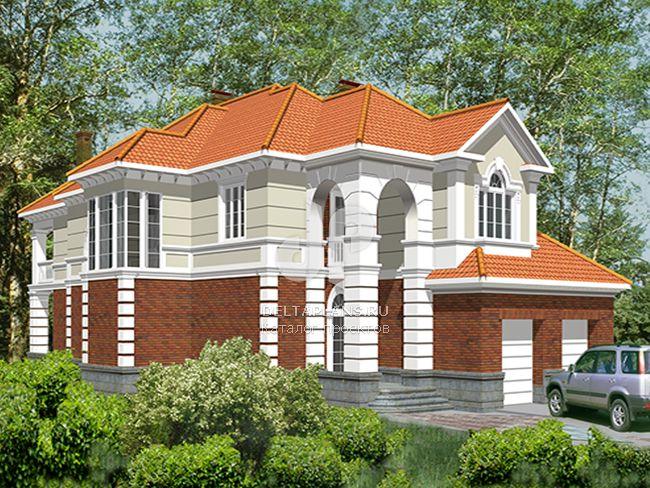 Проект кирпичного дома R-455-1K