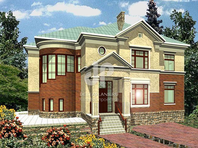 Проект кирпичного дома R-490-1K