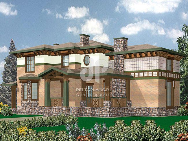 Проект кирпичного дома R-550-1K