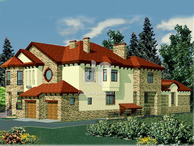 Проект кирпичного дома R-664-1K