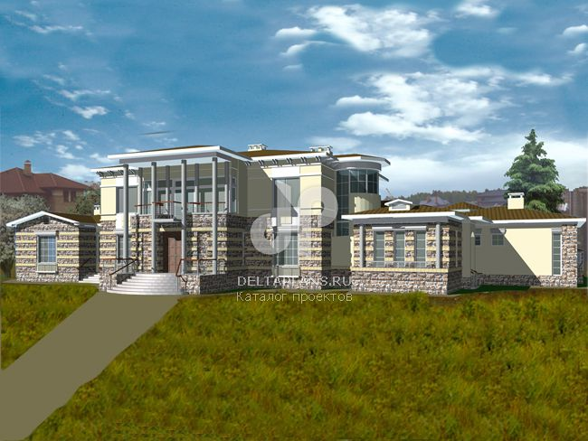 Проект кирпичного дома R-852-1K