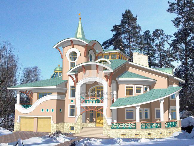 Проект кирпичного дома S-1270-1K