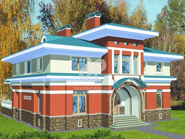 Проект кирпичного дома S-312-1K