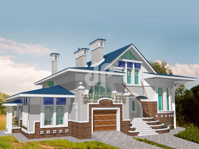 Проект кирпичного дома S-443-1K