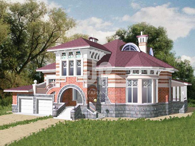 Проект кирпичного дома S-444-1K