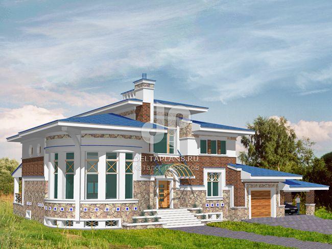 Проект кирпичного дома S-464-1K