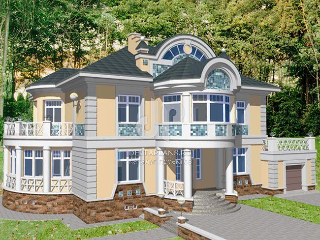 Проект кирпичного дома S-485-1K