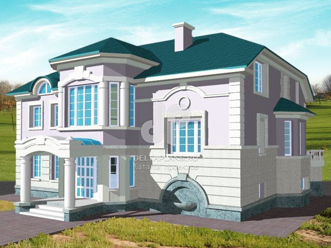 Проект кирпичного дома S-564-1K