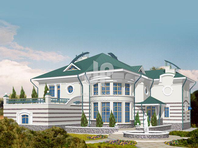 Проект кирпичного дома S-724-1K