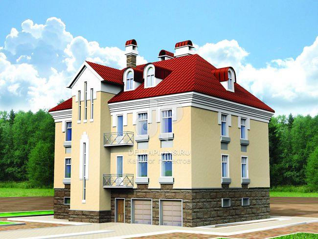 Проект кирпичного дома U-433-1K