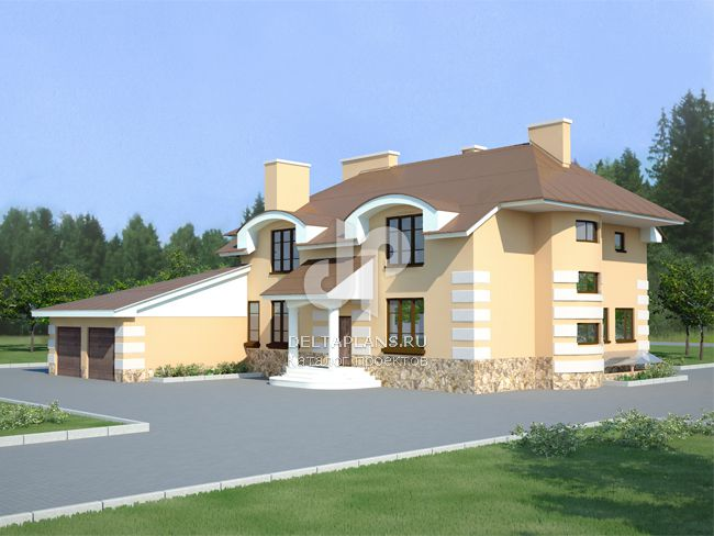 Проект кирпичного дома V-547-1K