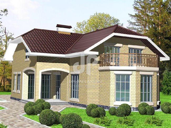 Проект кирпичного дома w-212-1k.