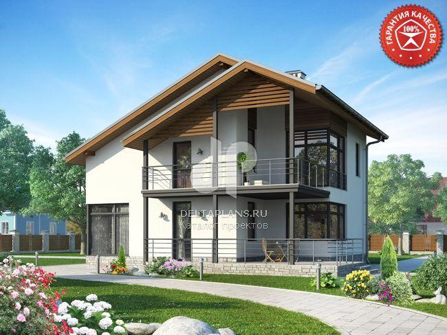 Проект пенобетонного дома p00508.