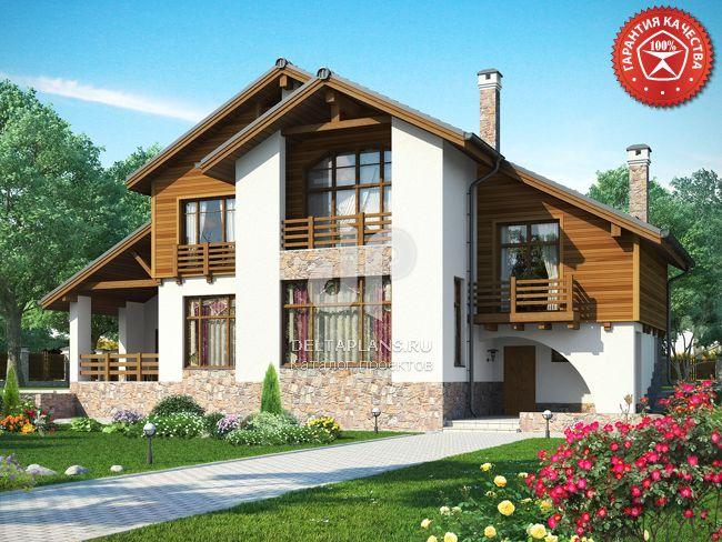 Проект пенобетонного дома p00512.