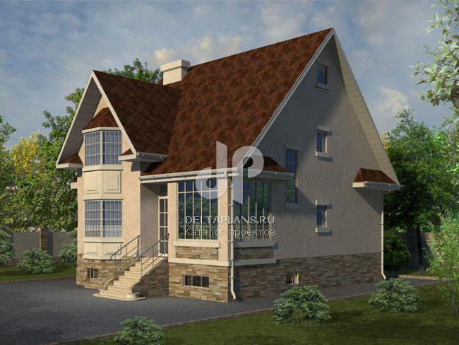 Проект кирпичного дома W-253-1K
