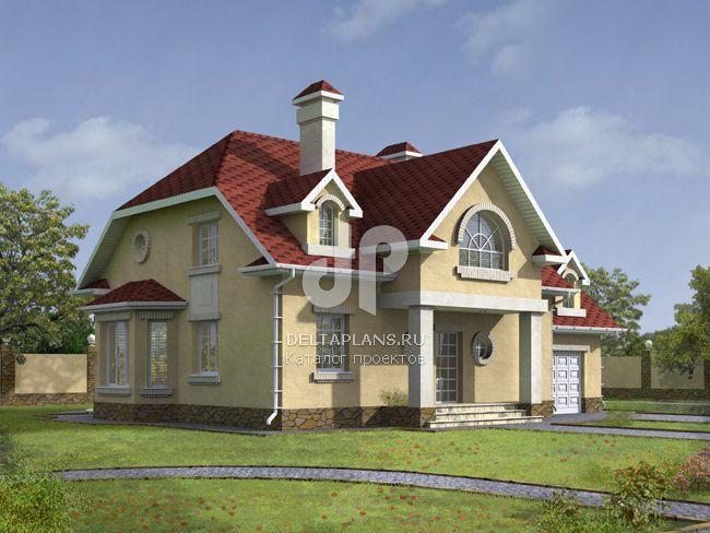 Проект кирпичного дома W-254-1K