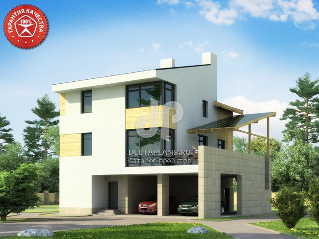 Проект пенобетонного дома W-257-1P