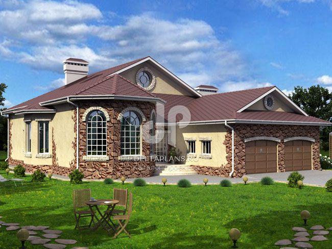 Красивые одноэтажные кирпичные дома