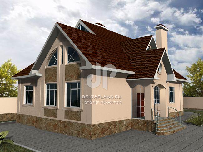 Проект кирпичного дома W-270-1K