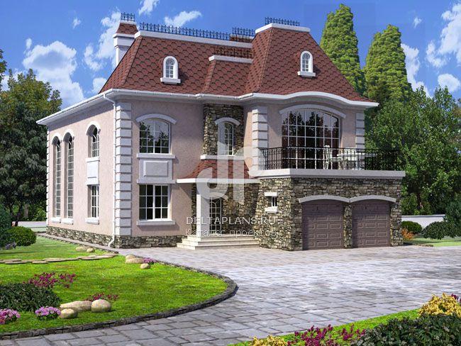 Проект кирпичного дома W-329-1K