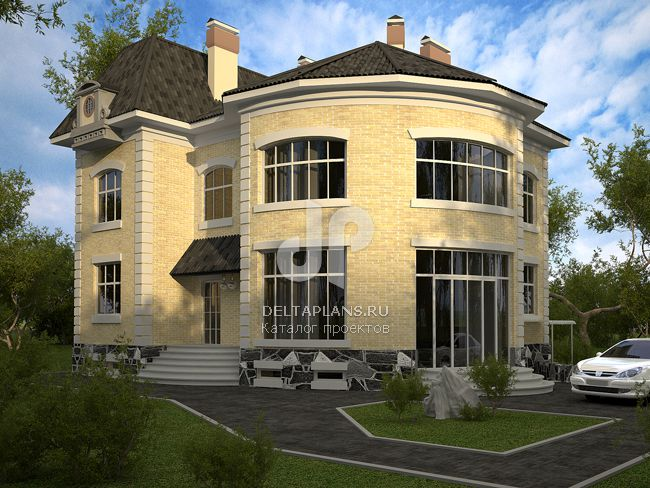 Проект кирпичного дома W-338-1K