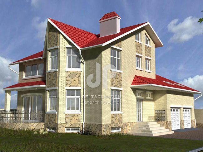 Проект кирпичного дома W-367-1K