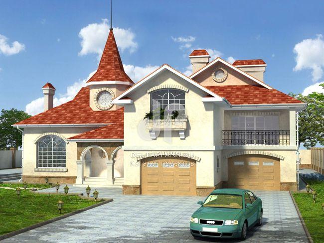 Проект кирпичного дома W-371-1K