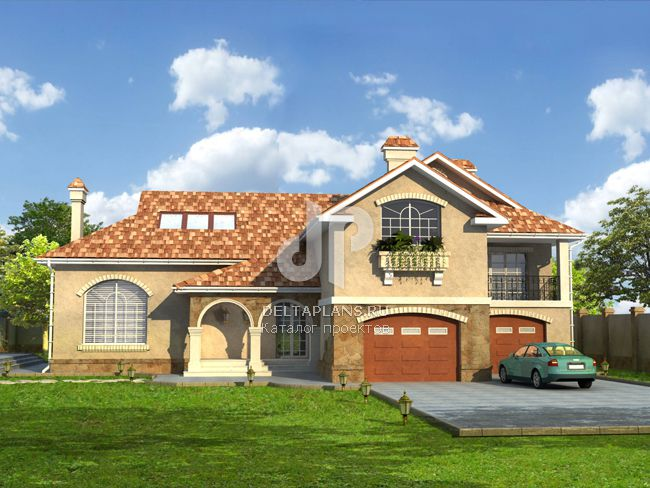Проект кирпичного дома W-371-2K